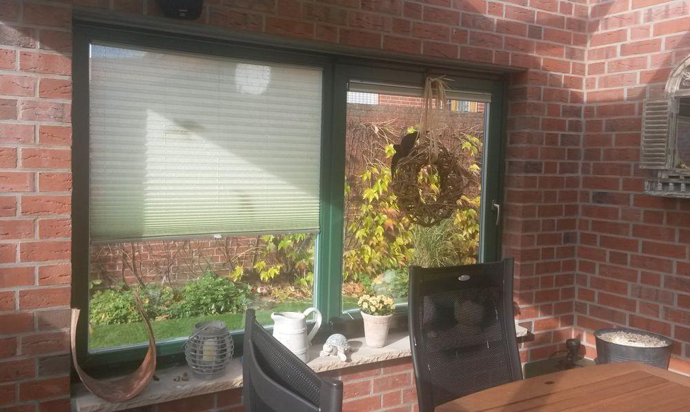 gr ne sichtschutz plissees f r den wintergarten wintergarten pinterest winterg rten. Black Bedroom Furniture Sets. Home Design Ideas