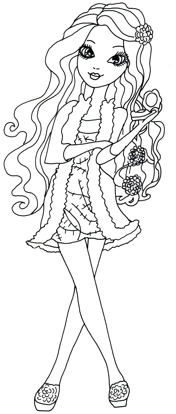 Ever after high coloring pictures - Free Printable Ever After High Coloring Pages Briar Beauty Getting Fairest Coloring Page