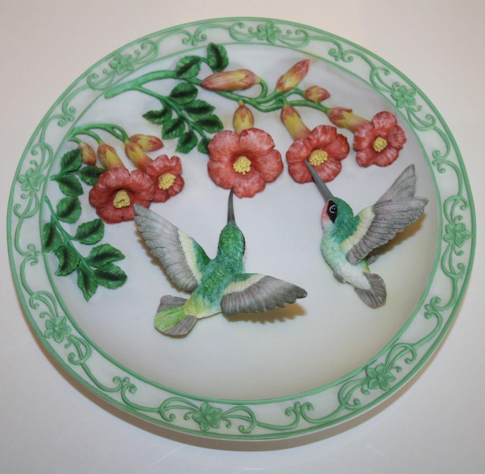 Maruri Porcelain Hummingbird Plate SEE PHOTOS & Descript