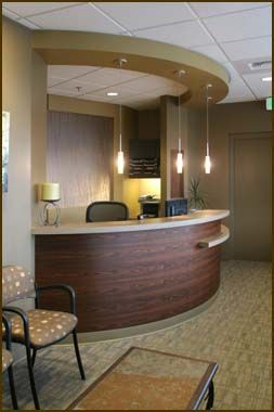 Medical Office Design Ideas workspaces profesional reception desk design for small medical office ideas with nice pendant lamp Washington State Dental And Medical Office Space Interior Design Services By Officewraps