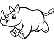 Precioso Rinoceronte Bebe Dibujo Para Colorear En 2020 Paginas Para Colorear Dibujos Para Colorear Rinoceronte Bebe