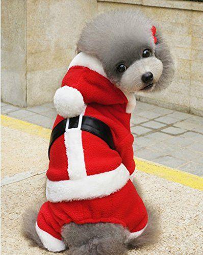 Enjoying Doggy Christmas Coat Puppy Cat Dog Christmas Costume With