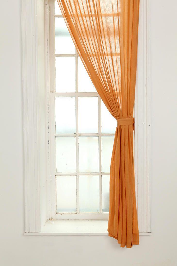 Chloe Gauze Curtain | Orange curtains, Window and Living rooms