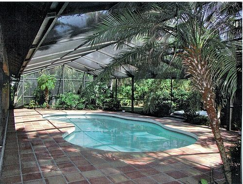 Caged Pool Love All The Trees In There Pools For Chiasso Pool Cage Swimming Pools Backyard