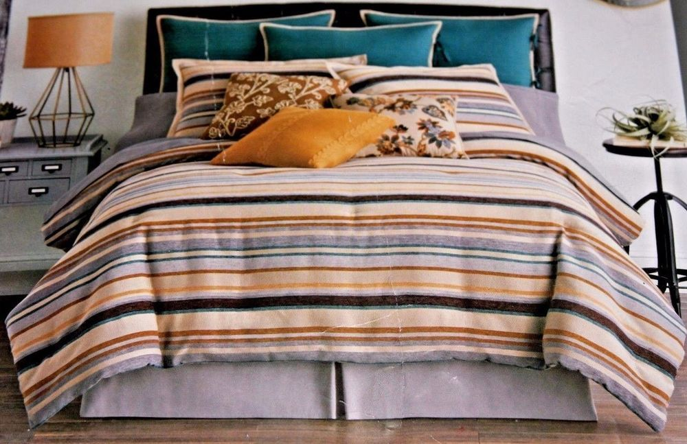 Jcpenney Home Tm Tapestry Stripe 4 Piece Queen Comforter Set