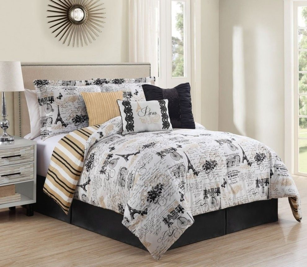33 Things For People Who Love Paris But Can T Afford An Actual Trip Paris Bedding Paris Themed Bedroom Comforter Sets