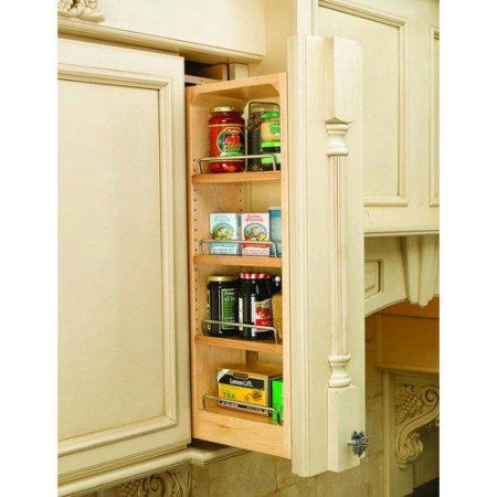 Base Wall Cabinet Fillers And Organizers 6 Inchw X 11 1 8 Inchd X 30 Inchh Zinc 100 Lb 4 Wood Rev A Shelf Shelves Wall Accessories