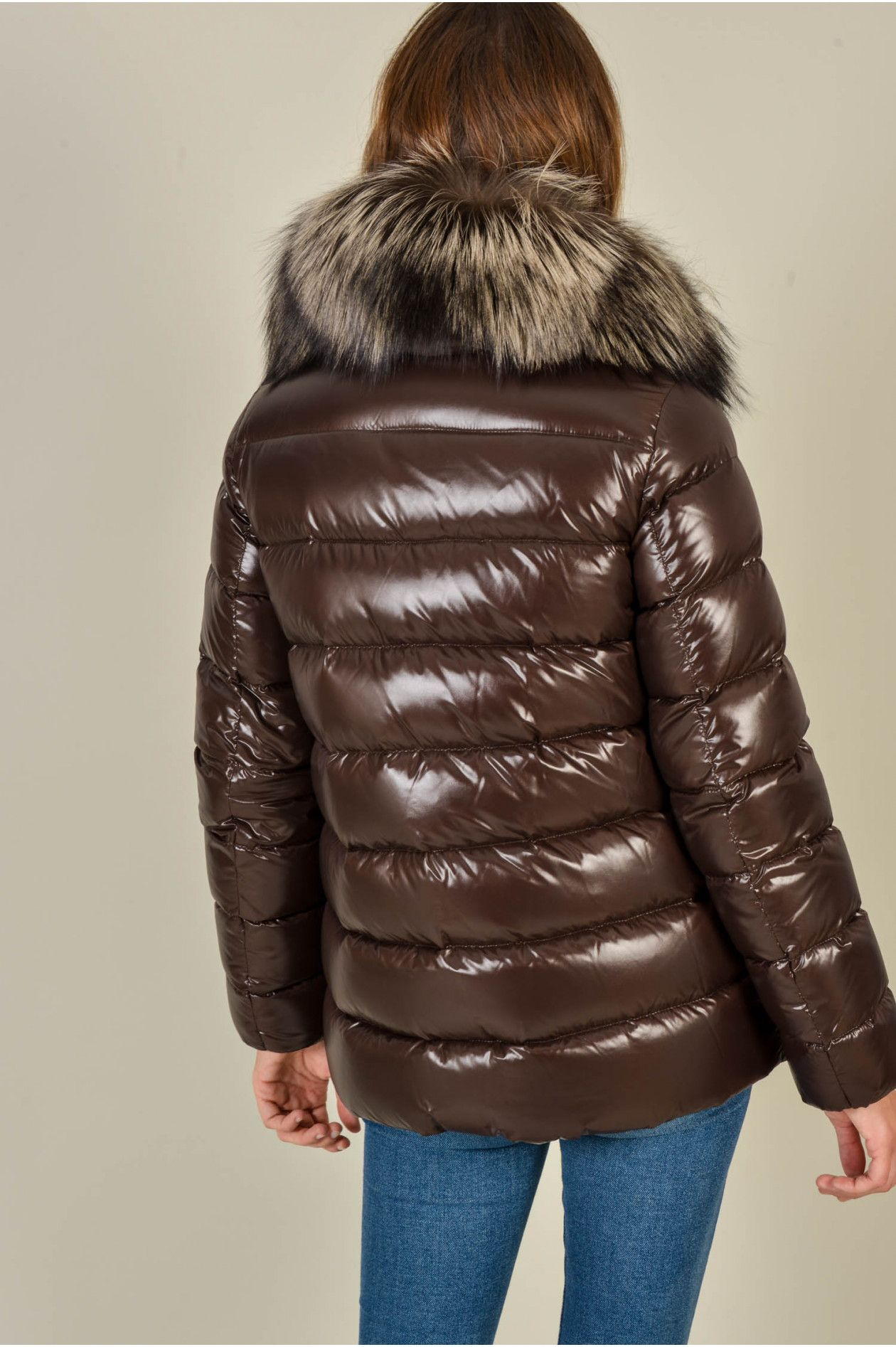 brand new 5ca64 8127f Jacke TARIER in Braun   Down jacket woman   Moncler, Puffy ...