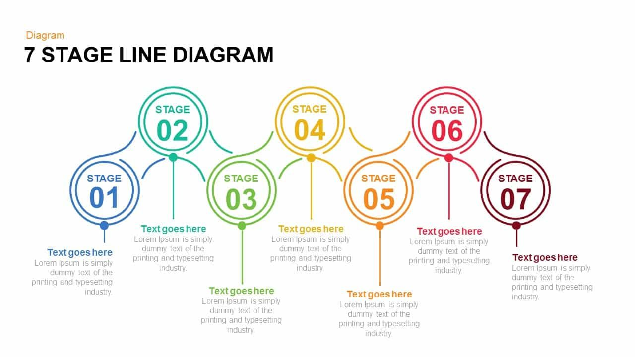 7 And 6 Stage Line Diagram Powerpoint Template And Keynote