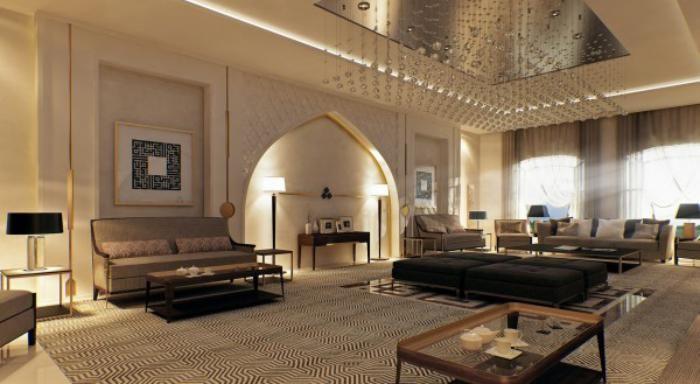 L\'aménagement d\'un salon marocain moderne - Archzine.fr   Pinterest ...