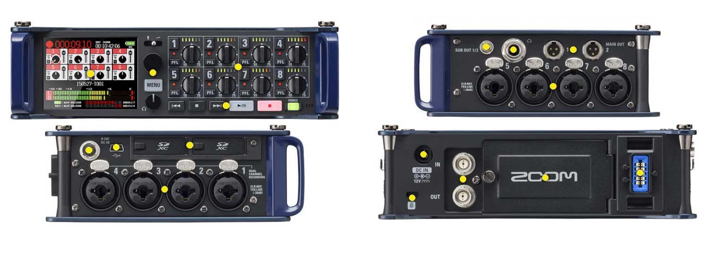 Zoom F8n Multitrack Field Recorder Recording Equipment Records