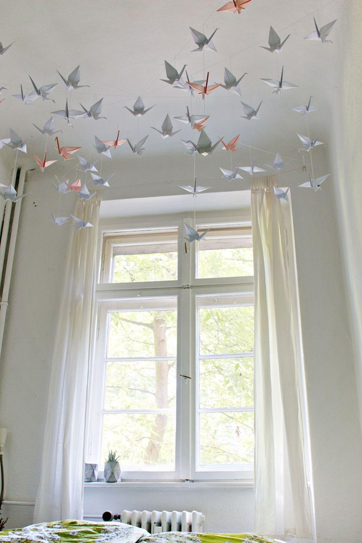 Diy Renters Friendly Origami Ceiling Decoration Origami Decoration Hang From Ceiling Decor Hanging Origami