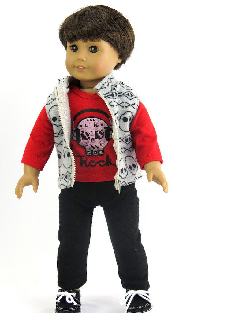 3 Piece Outfit for 18 Inch BOY Doll