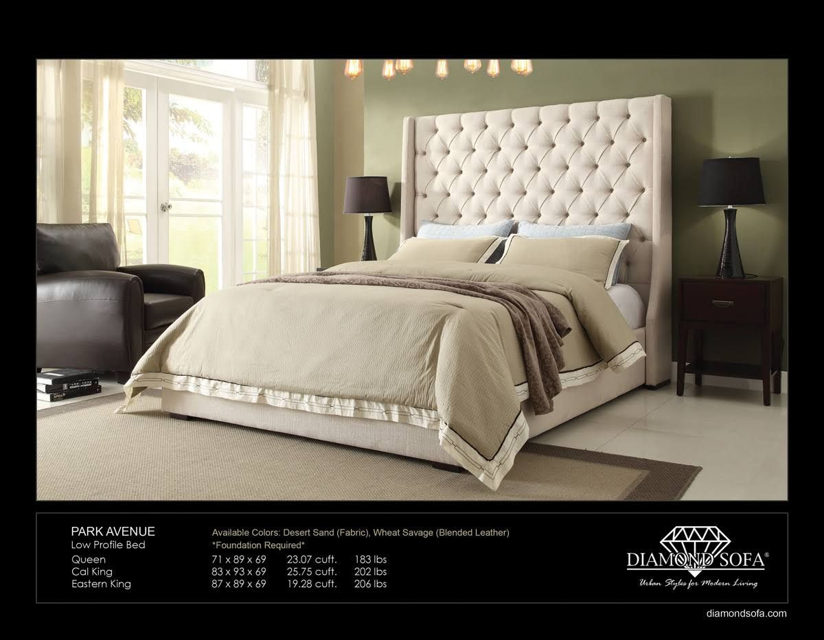 Diamond Sofa Park Ave King Bed In Desert Sand Paletten Bauen Anleitung Pdf Avenue Eastern Tufted With