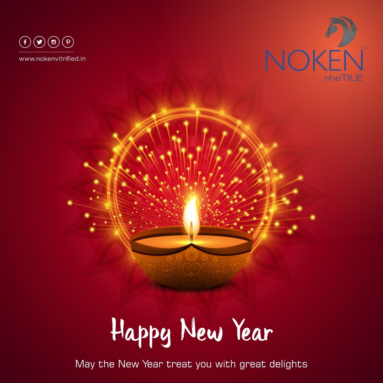 May The New Year Treat You With Great Delights Happy New Year Noken Tiles Ceramic Brand Floortiles Do Navratri Wishes Diwali Pictures Creative Posters
