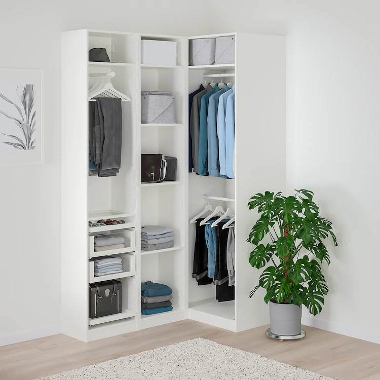 PAX Corner wardrobe white, Fardal Vikedal IKEA in 2020