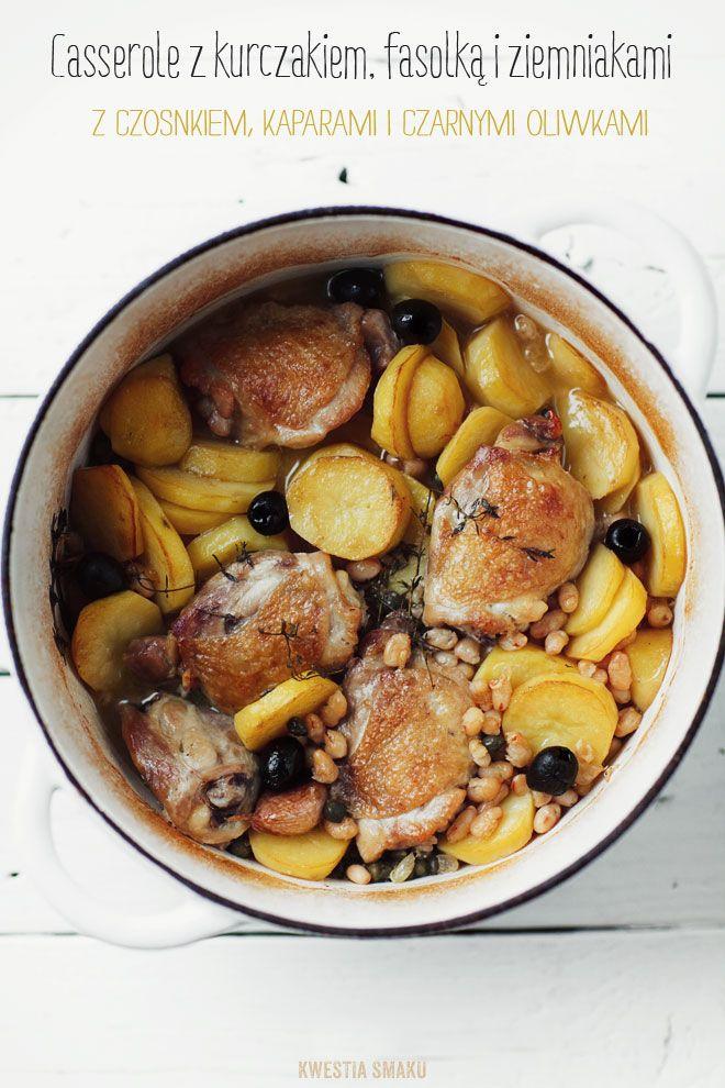 Casserole Z Kurczakiem Ziemniakami I Fasolka Przepis Delicious Healthy Recipes Bean Recipes Chicken Dinner
