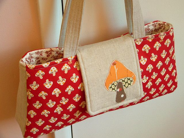 Mushroom applique bag handbags to make one day and embellishments