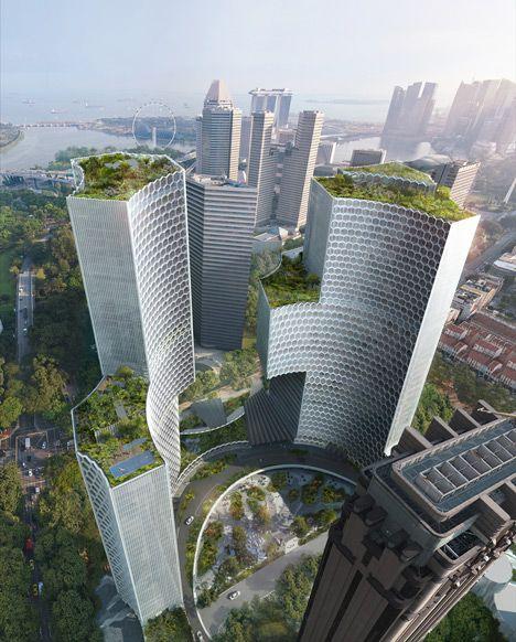 deze twee gebouwen zijn (nog) niet gemaakt, ze zijn bedoeld voor Singapore. dit vind ik ook mooi design