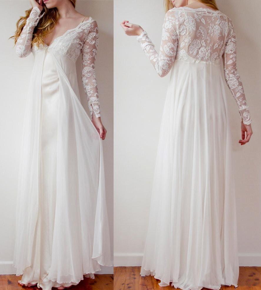 Short maternity wedding dresses  High Low Long Lace Chiffon Ivory Beach Wedding DressesPregnant