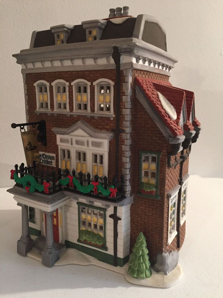 Dept 56 Dickens Village Series 5750 9 Crown Cricket Inn Lighted Building Department56 Dept 56 Dickens Village Dickens Village Christmas Villages