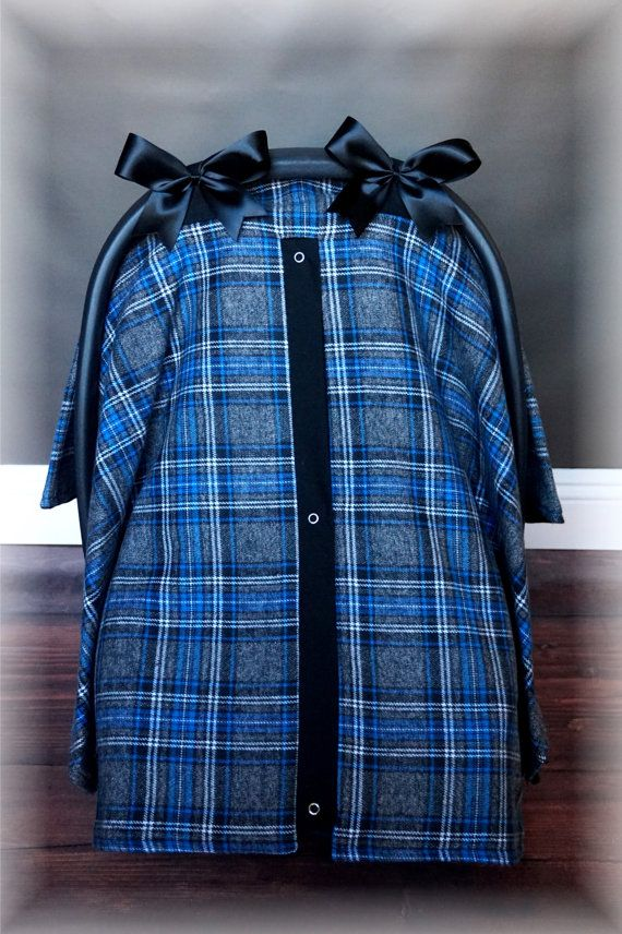 New Plaid Flannel Car Seat Canopy Car Seat By