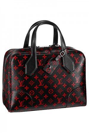 bc6c347ccc3f Louis Vuitton Red Black Monogram Canvas Dora Souple MM Bag - Spring 2015