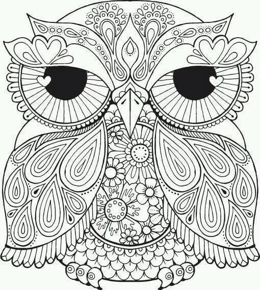 Image By Christina Lane On Adult Coloring Owl Coloring Pages