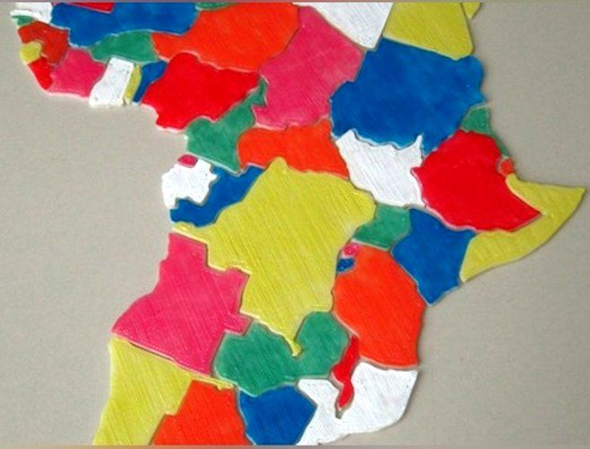 Africa Puzzle 3D Print | Toys | Africa map, Map puzzle, 3d printer ...