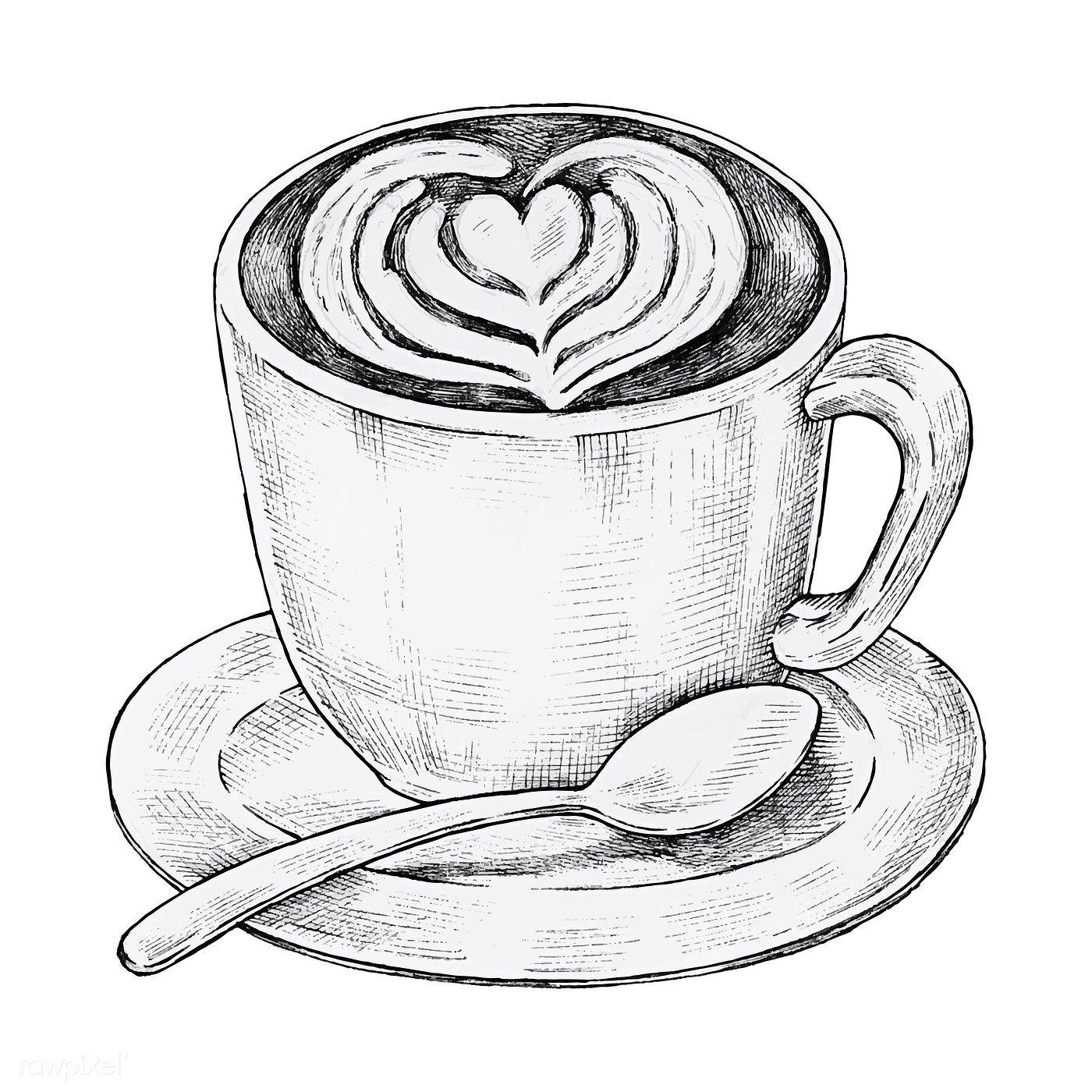 рисунки чашка кофе карандашом разнообразных фактур