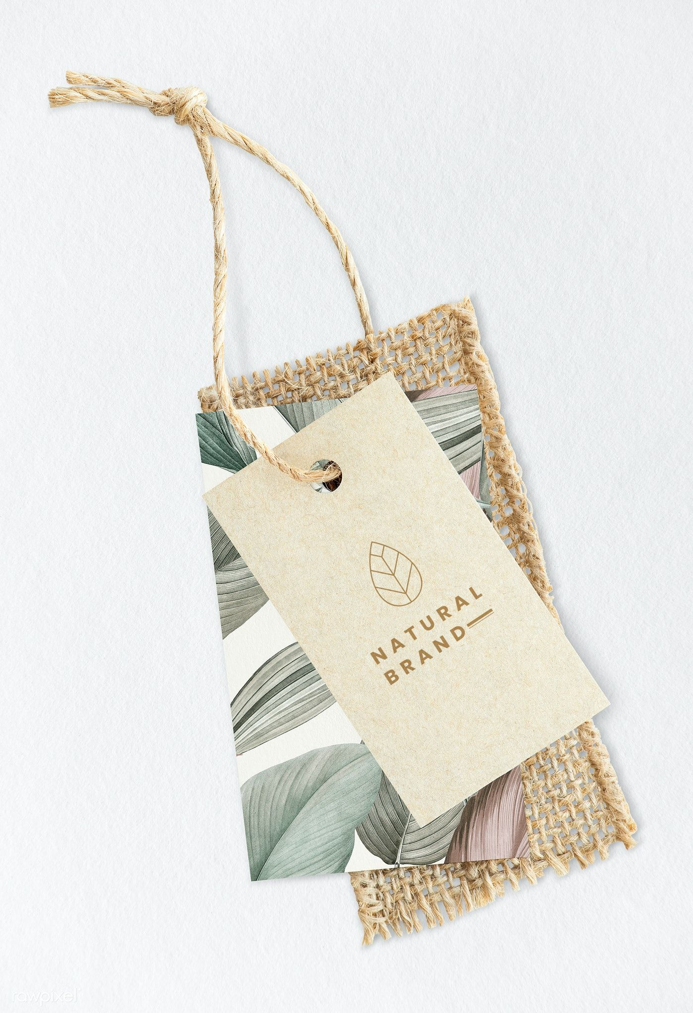 Download Download Premium Psd Of Leafy Natural Brand Label Mockup 1202157 Packaging Ideas Business Natural Branding Tag Design