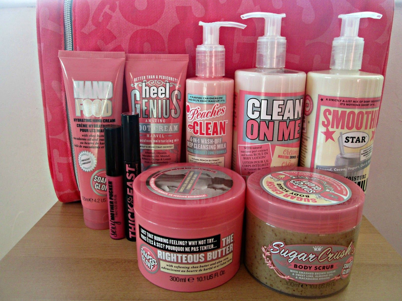 Soap and Glory beauty gift set. Body scrub, Bottle, Cleaning