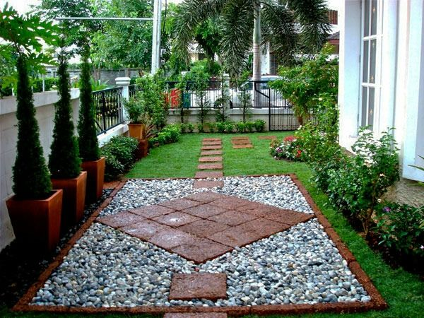 wohnen und garten - steinplatten, angeordnet wie eine raute, Garten und erstellen