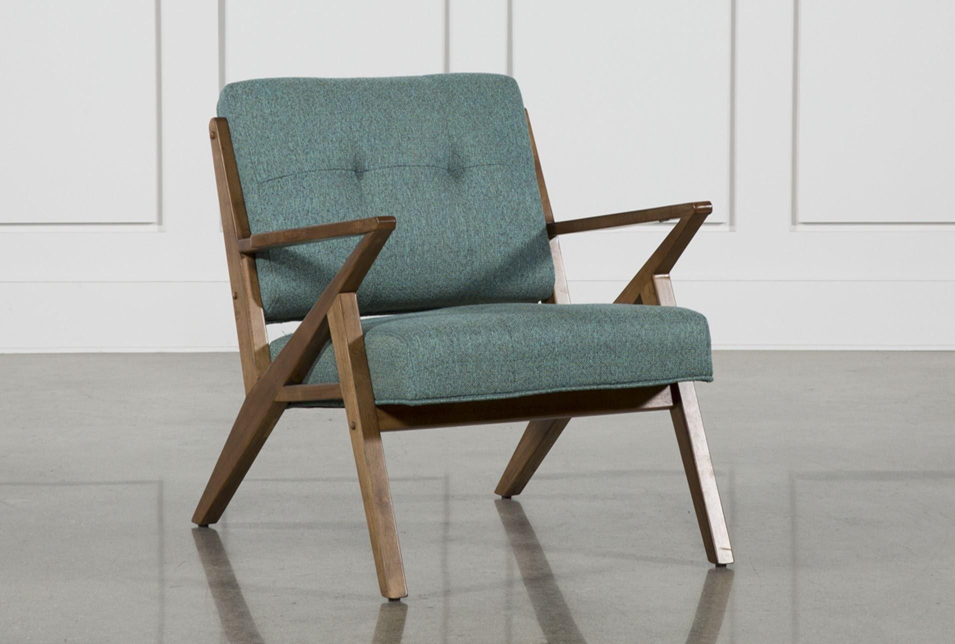 Aldo teal accent chair