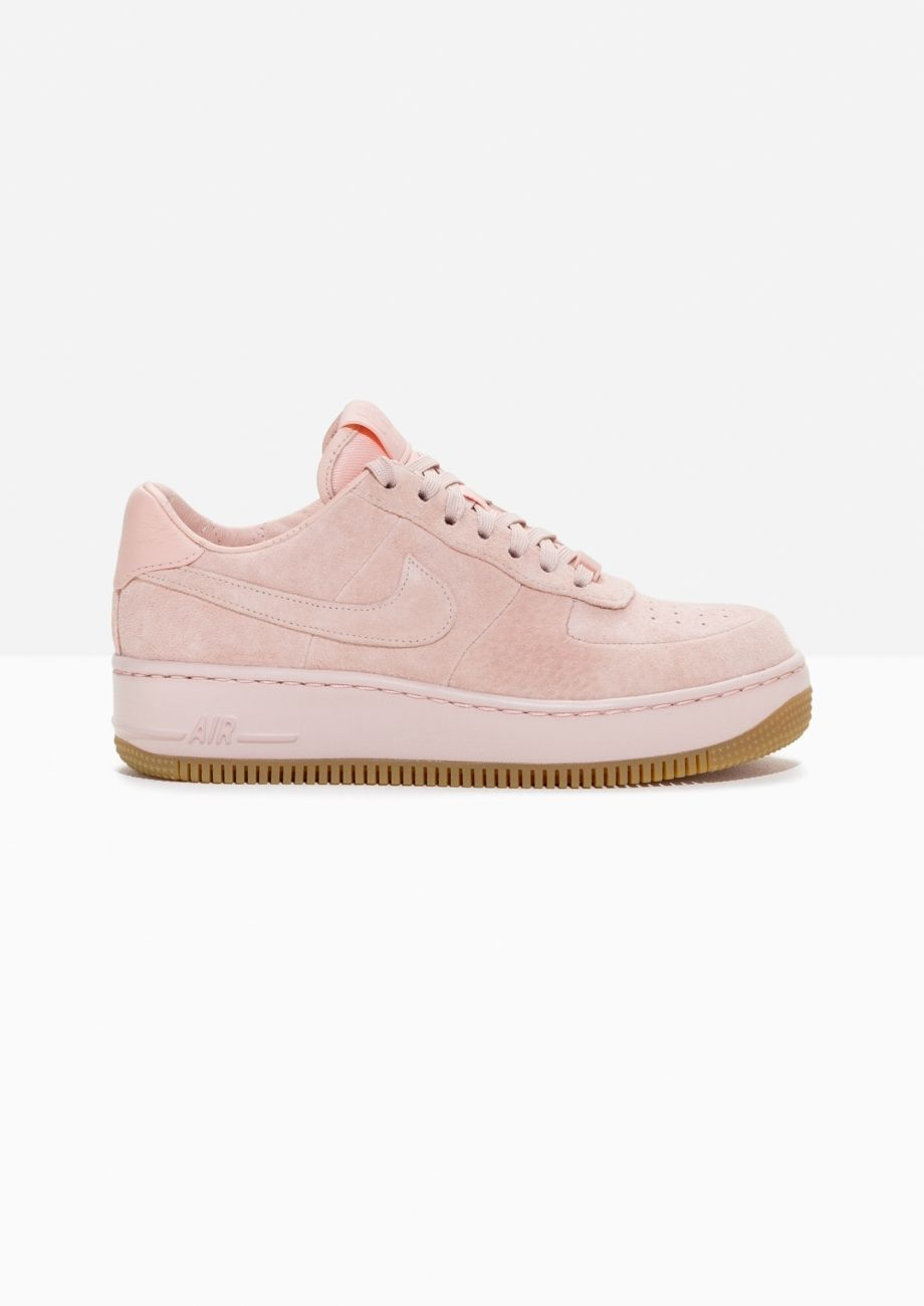 newest 012f7 8eccf Other Stories image 1 of Nike Air Force 1 Upstep Suede in Pink