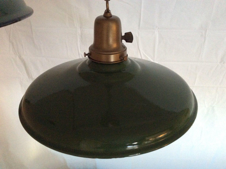 Vintage Green Porcelain Enamel Industrial Barn Gas Station
