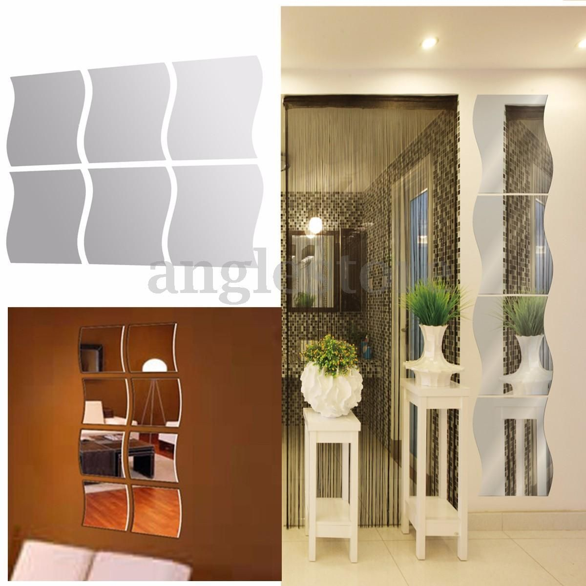 D mirror wall stickers vinyl removable home view window decal art