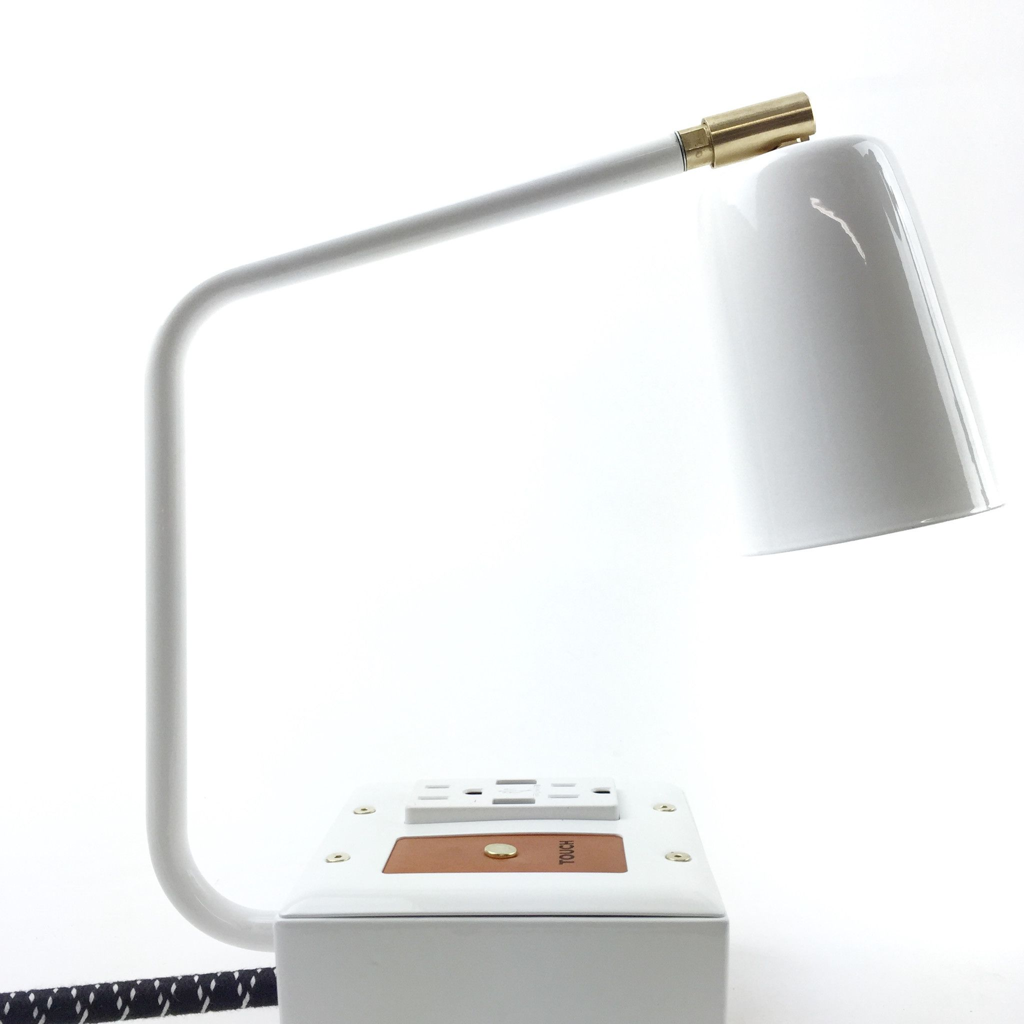 base table desk outlets lamp good lamps for power best with view in port usb and outlet white top oda inspiration