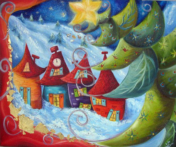 Peinture Décorative, Création, Restauration., Sur Un Air De Noël