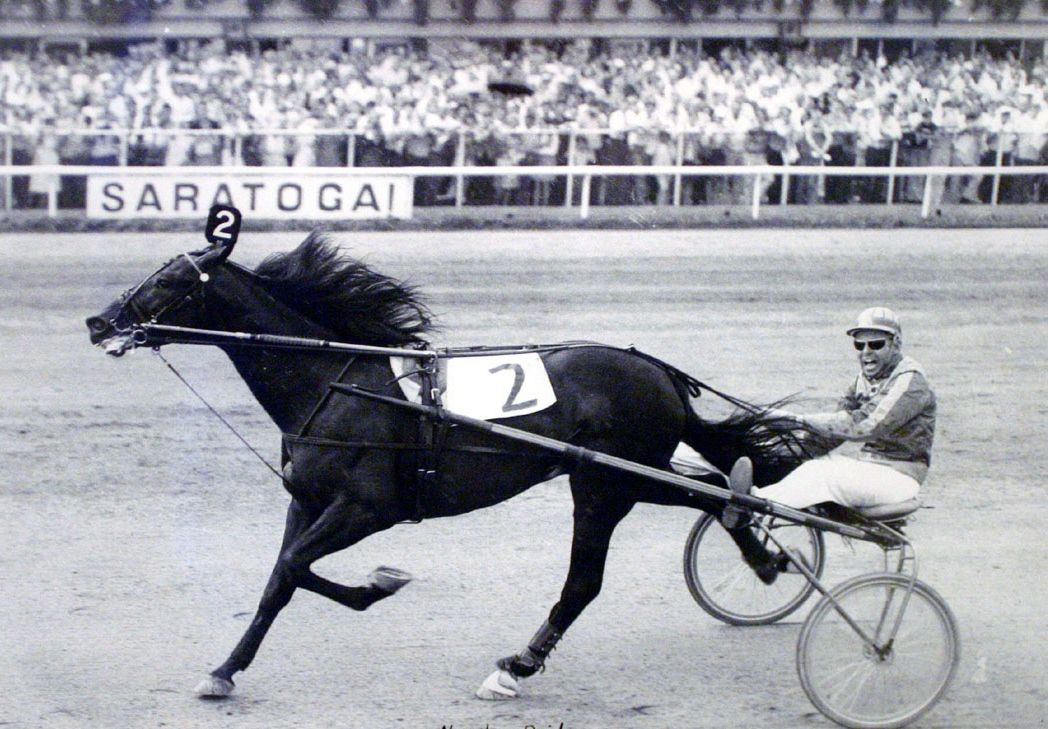 Which 3-time Harness Horse of the Year earned more than $870,000 during his racing career and won the Triple Crown of Harness Racing for Trotters in 1968?