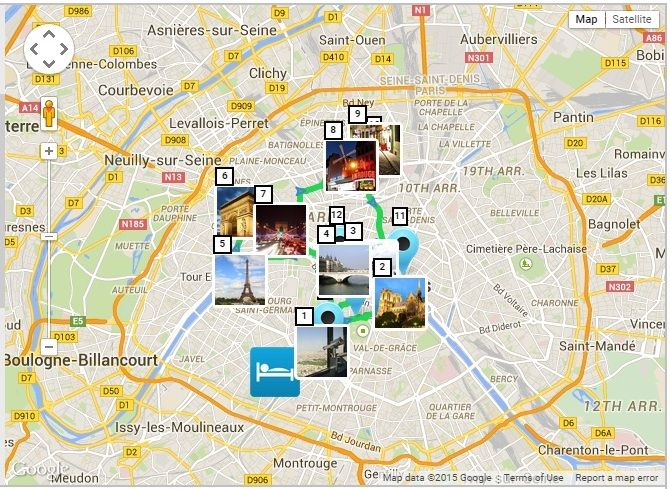 paris in a day paris map with self guided walking tour paris top attractions paris travel