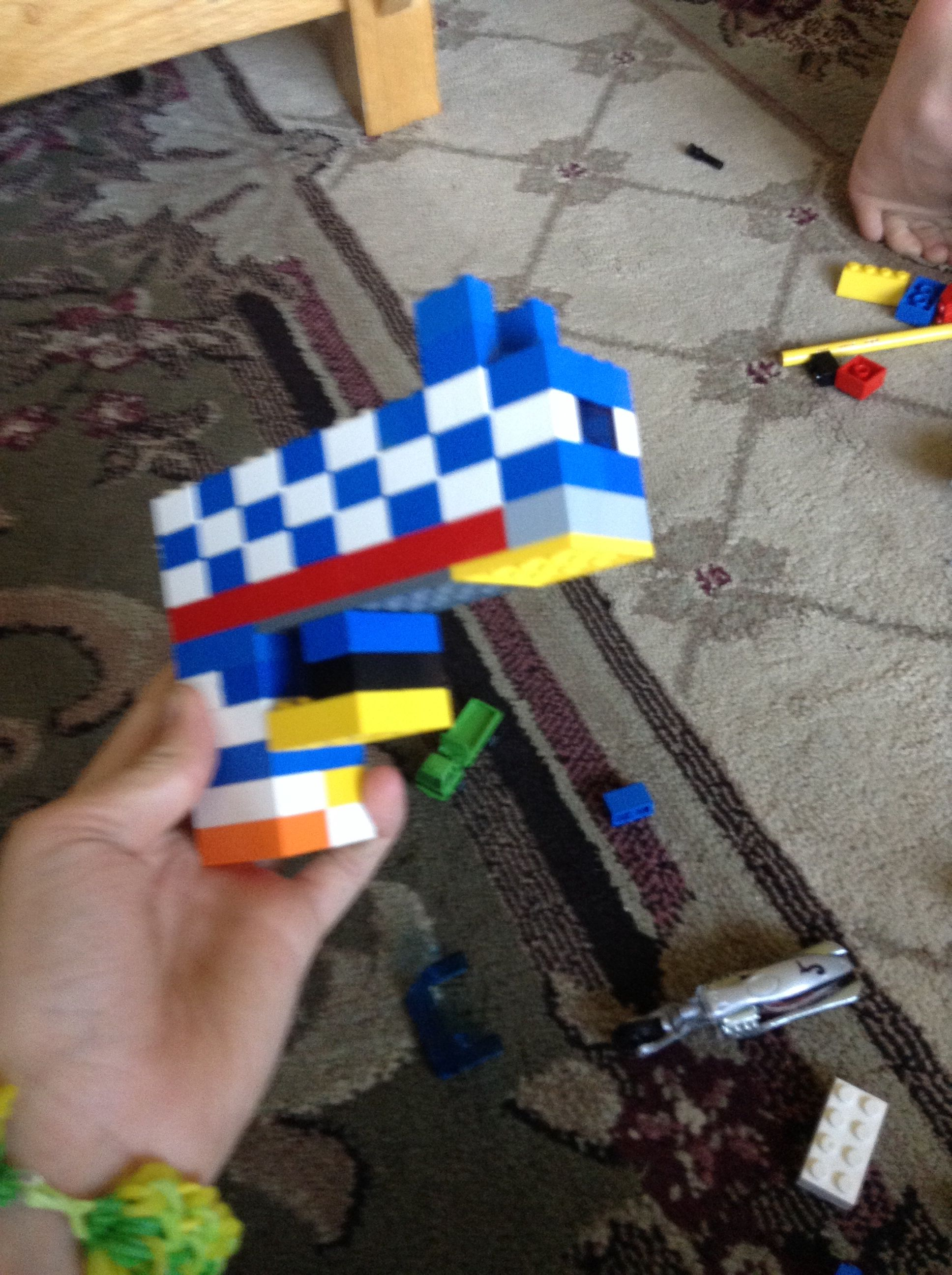 Lego gun side view