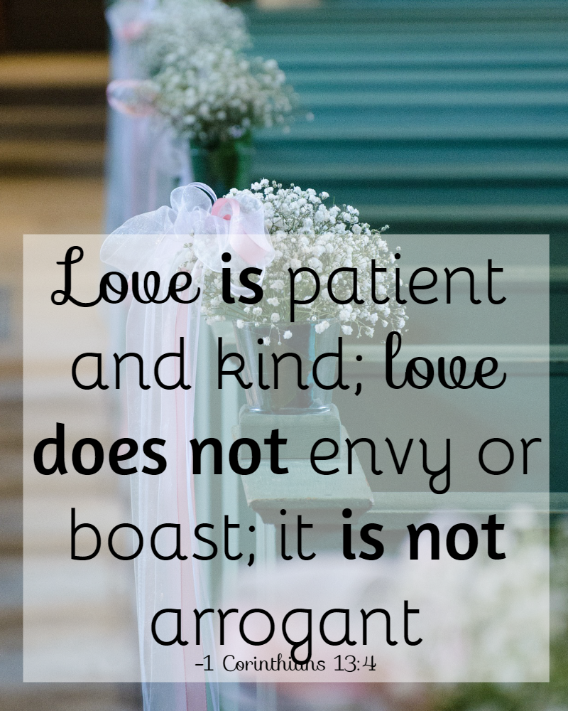 31 Days of Bible Verses About Patience 1 Corinthians 13 4