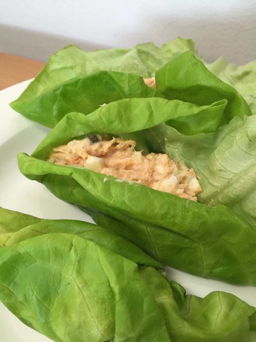Smokey salmon salad - a south beach diet phase 1 recipe from Alaska Knit Nat #southbeachdietphase1