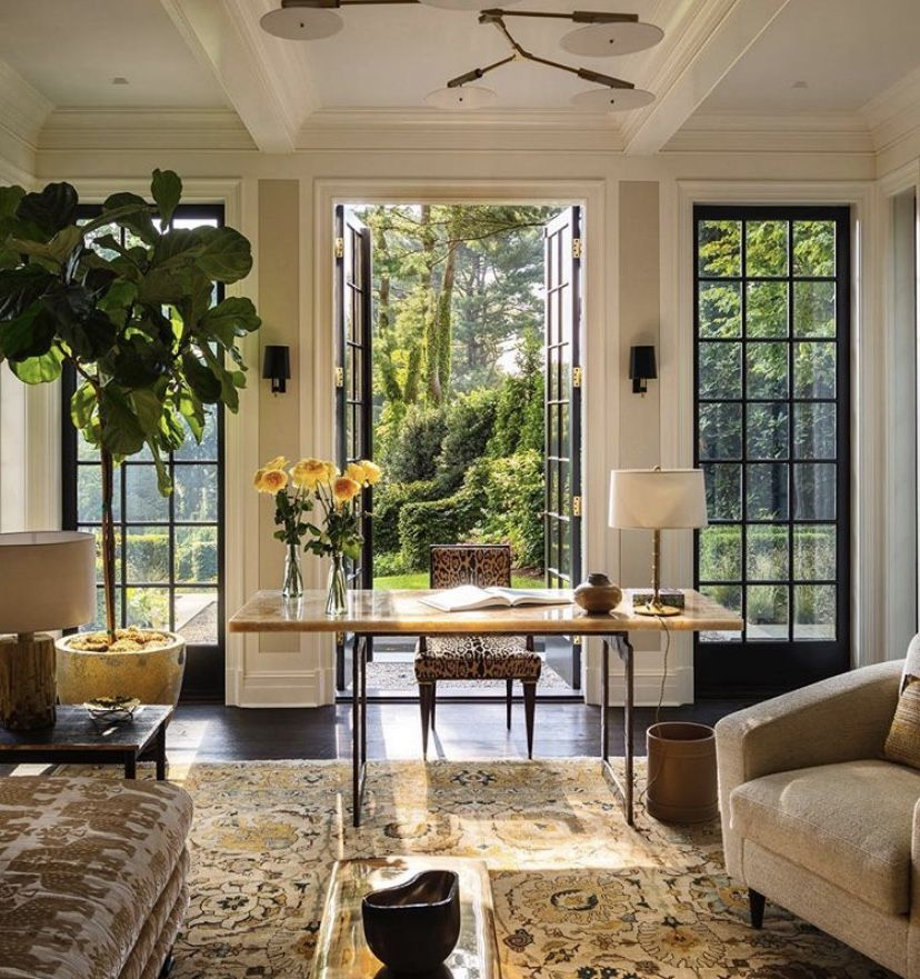 Designed By Victoria Hagan Interiors In A House In Greenwich Connecticut I Love The Feeling Of Unity That The Yellow Home House Interior Home Interior Design