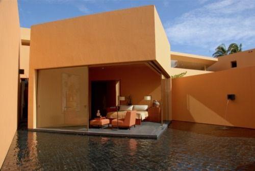 amazing architecture around this pool by Ricardo Legorreta in Mexico