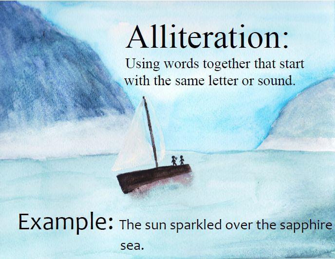 Figurative Language Posters - Nautical/Beach | School