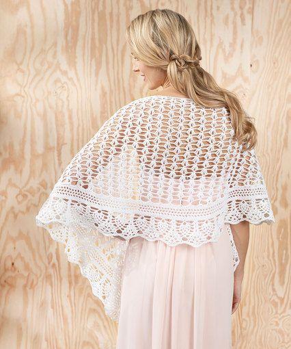 Gardenia Shawl Crochet Free Pattern Wedding Wrap Shawl Haken