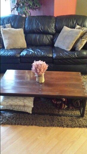 My hubby's handy work. Dyi coffee table.