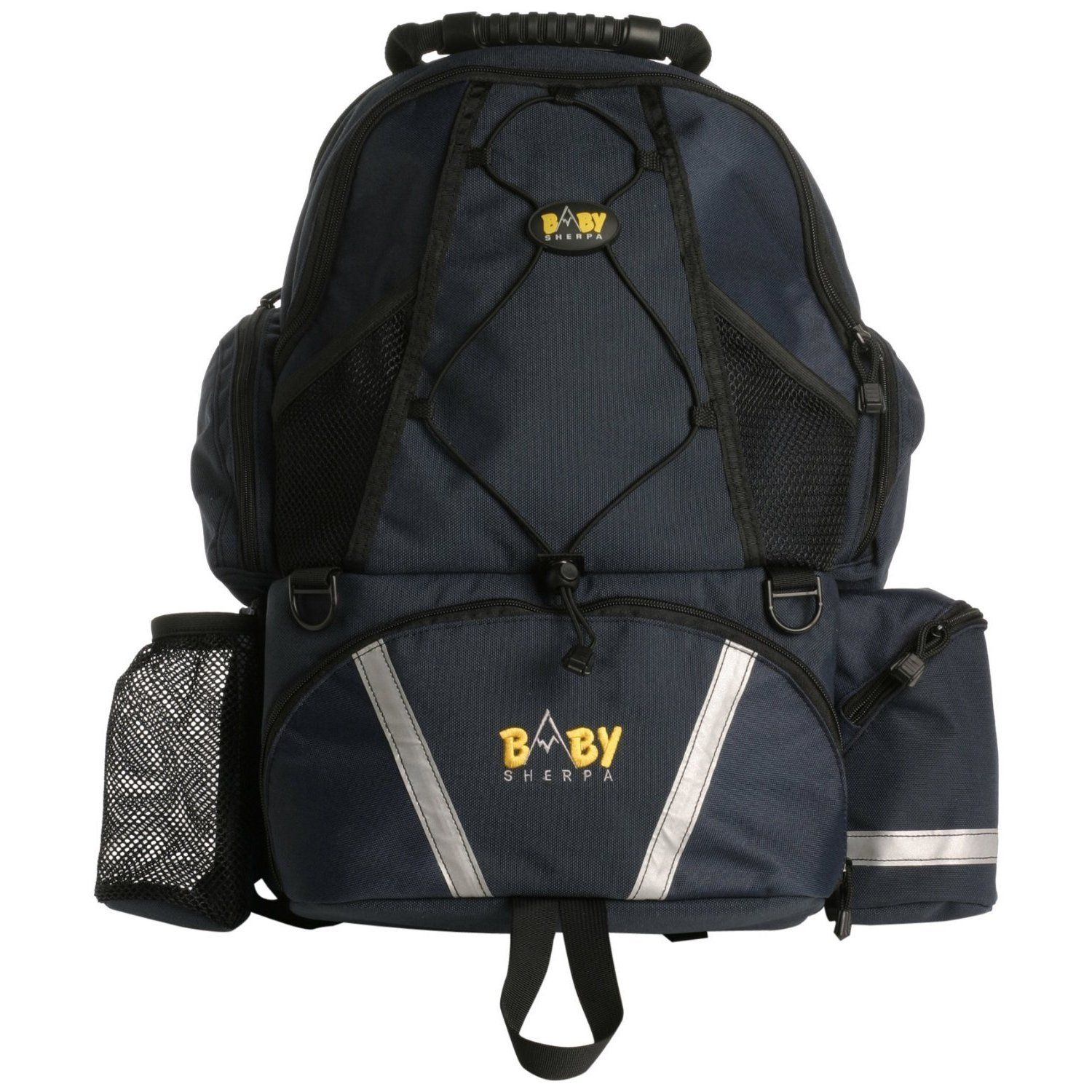The Baby Sherpa Diaper Backpack is multi-functional and ergonomically designed with four bags in one. This ergonomically designed, hands-free product out-packs the competition.